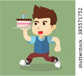 boy birthday cake | Shutterstock .eps vector #385571752