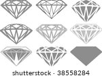 collection of diamonds   Shutterstock .eps vector #38558284