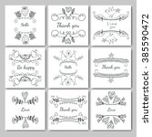 frames for text hand drawn. set ... | Shutterstock .eps vector #385590472