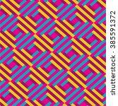 modern geometric seamless... | Shutterstock .eps vector #385591372