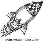 doodle sketchy rocket vector... | Shutterstock .eps vector #38559649