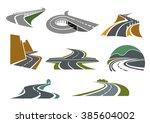 transportation emblems and... | Shutterstock .eps vector #385604002