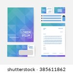 business corporate identity... | Shutterstock .eps vector #385611862