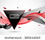 abstract background  waves and... | Shutterstock .eps vector #385616065