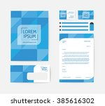 business corporate identity... | Shutterstock .eps vector #385616302