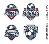 soccer logos  american logo... | Shutterstock .eps vector #385675492