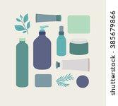 organic cosmetic packaging.... | Shutterstock .eps vector #385679866