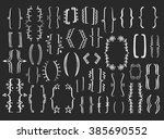 34 different creative hand... | Shutterstock .eps vector #385690552