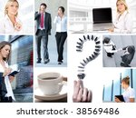 business collage made of some... | Shutterstock . vector #38569486