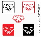 handshake icon   vector... | Shutterstock .eps vector #385700296