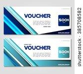 gift voucher. vector ... | Shutterstock .eps vector #385708582