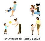 vector illustration of a mother ... | Shutterstock .eps vector #385711525