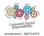 gears and corporate social... | Shutterstock .eps vector #385714372