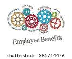 gears and employee benefits...   Shutterstock .eps vector #385714426