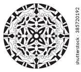 east ethnic round mandala....   Shutterstock . vector #385720192