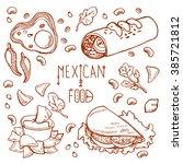 mexican food logo design... | Shutterstock .eps vector #385721812