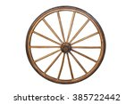 Wooden Wheel Of Old Wagon...