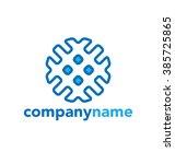 abstract vector logo design... | Shutterstock .eps vector #385725865