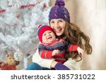 new year boy and mom | Shutterstock . vector #385731022