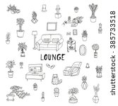 living room. lounge  relaxing... | Shutterstock .eps vector #385733518