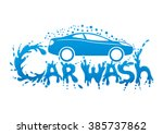 vector sign. car wash. | Shutterstock .eps vector #385737862