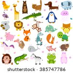 vector illustration of cute... | Shutterstock .eps vector #385747786