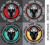 spartan warrior design vector...   Shutterstock .eps vector #385768048