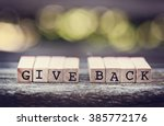 give back | Shutterstock . vector #385772176