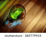 eco friendly transportation. 3d ...   Shutterstock . vector #385779925