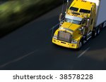 speed yellow semi truck on... | Shutterstock . vector #38578228