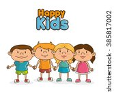happy kids design  | Shutterstock .eps vector #385817002