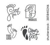 foot silhouette. health center... | Shutterstock .eps vector #385840246