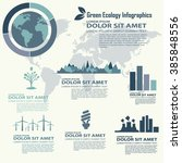 ecological infography with the... | Shutterstock .eps vector #385848556