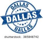 dallas blue round grunge... | Shutterstock .eps vector #385848742