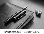 business accessories on desktop ...   Shutterstock . vector #385849372