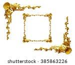 baroque  ornamental frame... | Shutterstock . vector #385863226