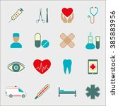 medical icon set isolated on... | Shutterstock . vector #385883956