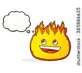 cartoon fire border with... | Shutterstock .eps vector #385886635