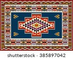 ornamental carpet design .... | Shutterstock .eps vector #385897042
