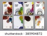 set of brochure  poster design...   Shutterstock .eps vector #385904872