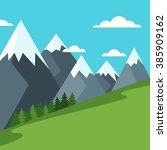 vector summer or spring... | Shutterstock .eps vector #385909162