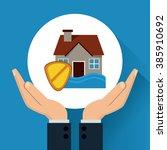 insurance icon design    Shutterstock .eps vector #385910692