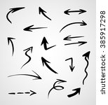 hand drawn arrows  vector set | Shutterstock .eps vector #385917298