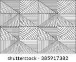 abstract seamless geometrical... | Shutterstock . vector #385917382