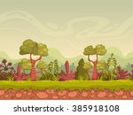 cartoon seamless nature... | Shutterstock .eps vector #385918108