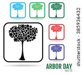 Icons Set. Arbor Day Vector Ar...