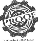 proof rubber grunge stamp | Shutterstock .eps vector #385944748