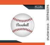 baseball icon design  | Shutterstock .eps vector #385960096