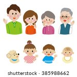 family smile icon set | Shutterstock . vector #385988662