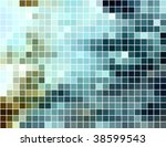 abstract square pixel mosaic... | Shutterstock .eps vector #38599543